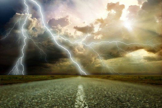 Lightning storm, lighting bolt, lightning strike, lightning road