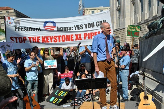 bill mckibben, keystone xl pipeline, protest, rally, tar sands, transcanada, climate change