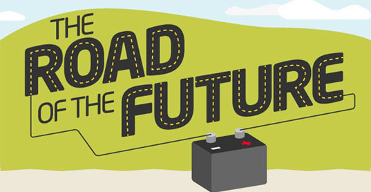 the road of the future, road of the future infographic, green roads, sustainable infrastructure, green highways, green roadways, eco streets, recycled plastic roads, eco-pave, green pavement materials, sustainable pavement materials