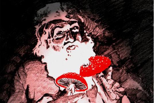 design, holiday, christmas, santa claus, history, amanita muscaria, fly agaric, 'shrooms, santa claus origins