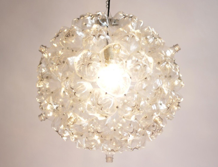 Soudas bubble chandelier is made of plastic bottles collected by design aloadofball Gallery