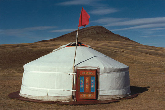 traditional Siberian yurt