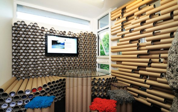 Paper Tube Office By Zouk Architects Inhabitat Green Design Innovation Architecture Green