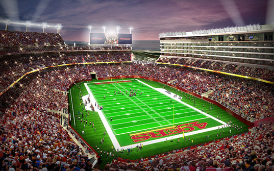 san francisco 49ers 39 new home to be pro football 39 s first leed certified stadium inhabitat. Black Bedroom Furniture Sets. Home Design Ideas