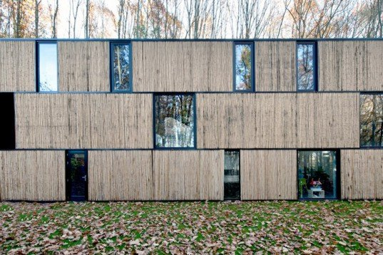 AST 77 Architecten, bamboo, architecture, belgium, woodland, Architecture, Daylighting, Green Materials, energy efficiency, bamboo house