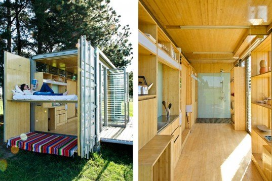 Atelier Workshop, Port-A-Bach, tiny home, recycled container, Architecture, energy efficiency, Recycled Materials, wheeled container