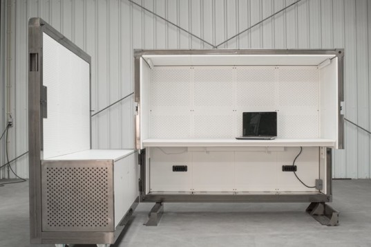 BEEBOX Mobile Office, buro beehive, co-working, mobile office pod, mobile workspace, amsterdam