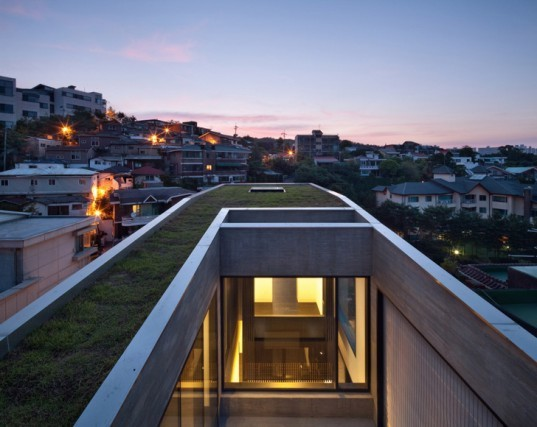 green design, eco design, sustainable design, Bang by Min Design Group, Seoul, H-House, Sae Min Oh, Seongbuk-dong, multi-level home, three generation home