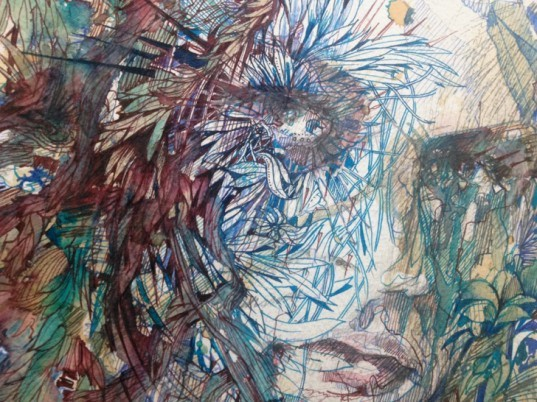 green design, eco design, sustainable design, Carne Griffiths, coffee art, tea art, vodka art, sustainable dyes, natural dyes, food dyes, Coates & Scarry, Trailblazers