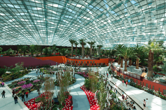 Cooled Conservatories, Wilkinson Eyre, gardens by the bay, greenhouse, landscape architecture, eco greenhouse, singapore