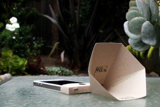 The Eco Amp Is A Low Cost Iphone Speaker Made From