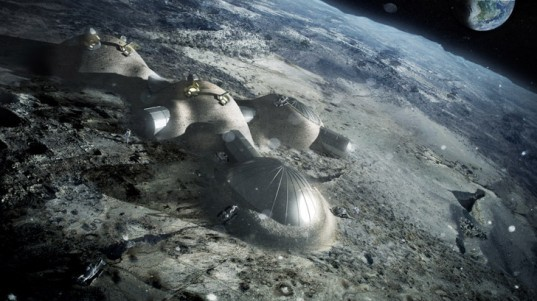 green design, eco design, sustainable design, Foster and Partners, European Space Agency, 3d printed lunar base, moon colonization, ESA, Alta SpA, Monolite U, Scuola Superiore Sant'Anna