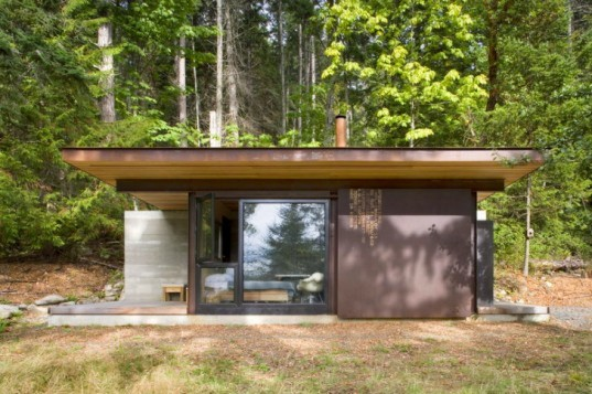 Gulf Islands Cabin, Olson Kundig Architects, british columbia, fire proof cabin, small space living, eco cabin, green cabin