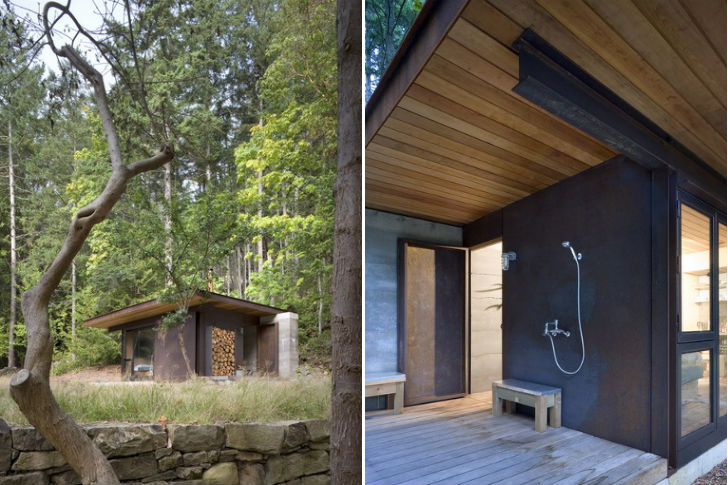olson kundig 39 s one room gulf islands cabin is a minimalist