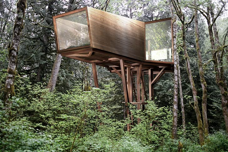 Antony Gibbon S Inhabit Treehouse Lets You Sleep High Up In The Trees