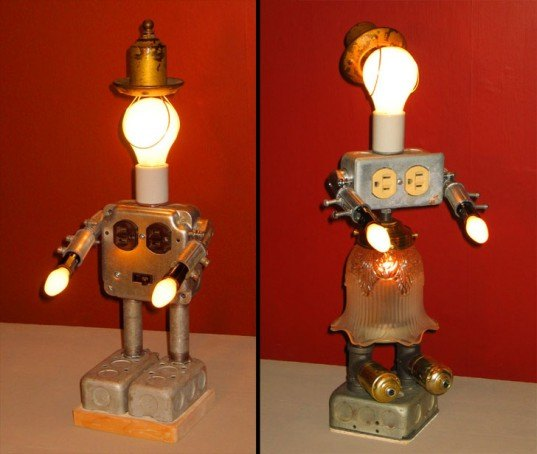 Lamp Revival, lamps, recycled lamps, DIY lamps, custom lamps