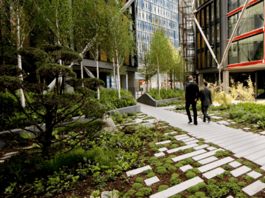 Neo Bankside, Rogers Stirk Harbour Partners, london, gillespies, eco residences, natural daylight, landscape gardens