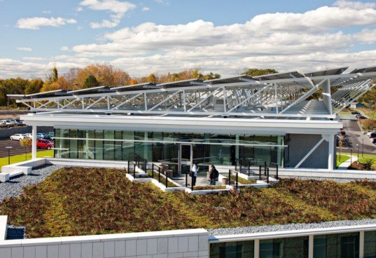 North Shore Community College, Danvers, Massachusetts, DiMella Shaffer, sustainable, LEED Gold, ZNEB, Zero Net Energy Building, energy efficient, solar power, geothermal, daylight, Health Professions, Student Services, Peter Shaffer, net zero