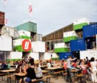 O+A's Recycled Shipping Container Theater Pops Up in Amsterdam's Shipyard