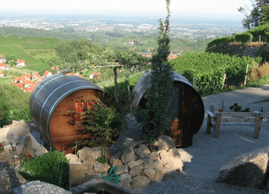 Germany, The Black Forest, Schlafen im Weinfass, wine barrel rooms, wine barrel hotel, vineyards, wine-making, Sasbachwalden, Air BnB, funky hotel, recycled wine barrels, recycled materials, green design, sustainable design, eco-design, eco-tourism, sustainable tourism