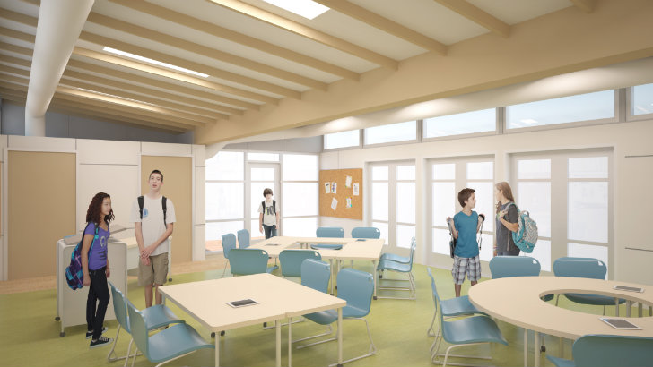 Classroom Hvac Design ~ Innovative sprout space prefab classroom on its way to the
