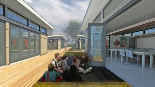 Sprout Space, Perkins Will, prefab classroom, modular classroom, green school, eco school, national building museum