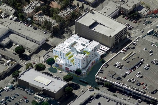 Star Apartments, Michael Maltzan Architects, los angeles, homeless housing, prefab apartments, green renovation, skid row housing trust