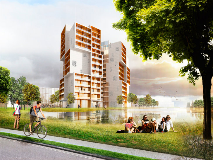 C.F. Møller Unveils Competition Winning Eco Student Residence For SDU In  Odense