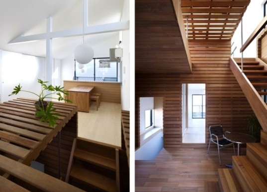daylighting, switch box, deck lumber, japanese design, japanese architecture, green renovation, natural ventilation, adaptive reuse, mixed use home, home office, japan, Naf Architect and Design, sustainable design, green design