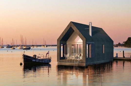NRJA, floating barn, No Rules Just Architecture, Latvia, houseboat