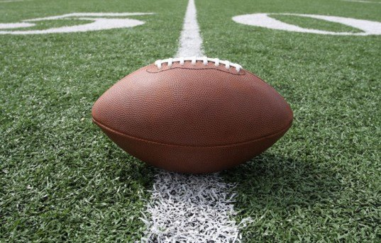 American football, NFL, football at 50 yard line, super bowl