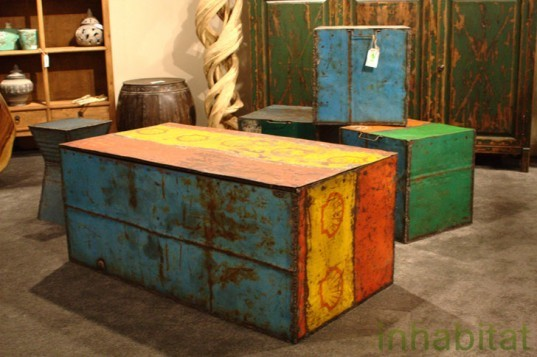 Las Vegas Market, Sustainable Furnishings, Green Furniture, Eco Home, oil drum furniture, salvaged materials, pangaea collection