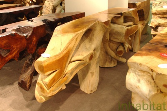 Las Vegas Market, Sustainable Furnishings, Green Furniture, Eco Home, Phillips Collection, Sustainable wood, salvaged wood, teak, recycled glass