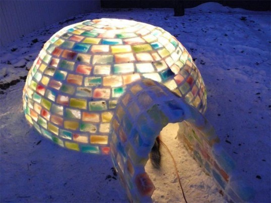 igloo, diy igloo, colorful igloo, rainbow igloo, david gray, canada igloo, man builds igloo, hand-built igloo