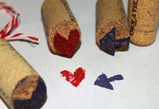 How To Make Your Own Fun Stamps Out Of Recycled Wine Corks