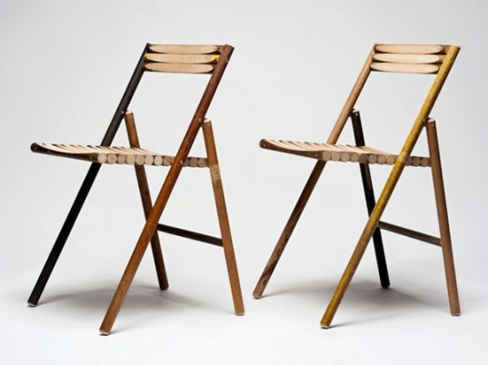 STEEL Chair, Reinier de Jong, recycled chair, broom handle chair, sustainable design, green design, eco chair, green chair, green interiors, sustainable interiors, green furniture, sustainable furniture, eco-friendly furniture, recycled materials