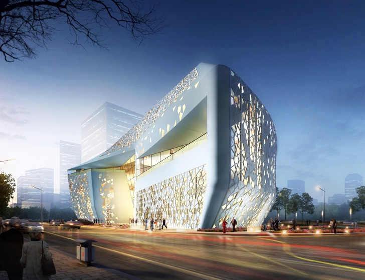 Sure Architecture S Perforated Yinchuan Exhibition Center