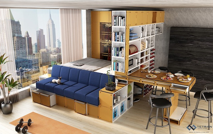 Multi Purpose Furniture For Small Spaces 10 transforming furniture designs perfect for tiny apartments