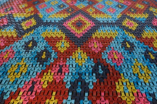 heidi voet, rug, watches, chime, carpet, installation, is six afraid of seven/ 'case seven, eight, nine!, detail
