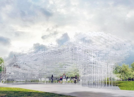 sou fujimoto, serpentine gallery pavilion, kensington gardens, london, architecture, commission, cloud