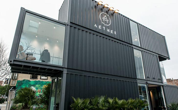Aether 39 s new san francisco store takes shipping container for Maison container 50000