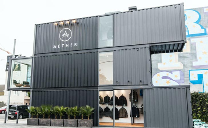 Aether S New San Francisco Store Takes Shipping Container