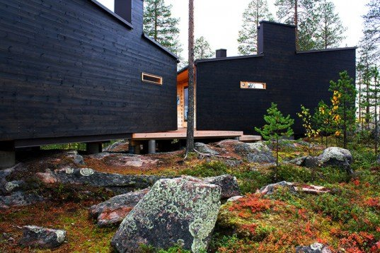 Arkkitehtitoimisto Louekari, Villa Valtanen, local wood, dovetail joint, sauna, tar, Finland, Lapland, Arctic Circle, Architecture, Daylighting, Green Materials