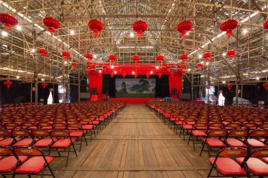 CL3 ,william lim, West Kowloon Theatre, bamboo theatre, chinese new year, pop up theatre, bamboo, bamboo structure, chinese theatre, chinese building, hong kong, china