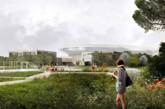 European Spallation Source, Henning Larsen, COBE, SLA, sweden, particle accelerator, eco research facility, eco lab,