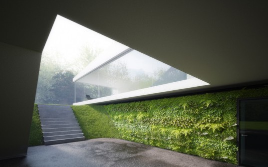 Hornung and Jacobi architecture, forest, cubic retreat, southern Germany, daylighting, green design, sustainable design, eco-design,
