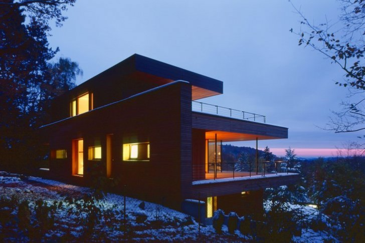 Km Architektur 39 S Geothermal Heilbronn House Is A Timber