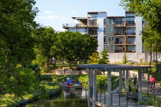 Lake Flato Architects, ghost building, urban revitalization, development, San Antonio, Texas, real estate, adaptive reuse, Broadway, natural daylight, outdoor space, nature, San Antonio Riverwalk,