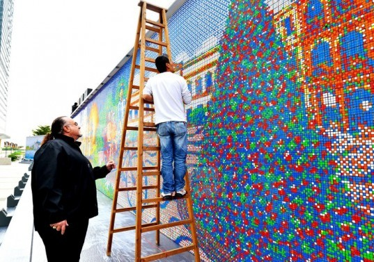 world's largest Rubik's Cube Mosaic, Cube Works Studio, Rubik's Cube Mosaic Macau, temporary exhibitions, temporary art, Sistine Chapel cube mosaic, Last Supper cube mosaic, Guinness World record cube mosaic, Guinness World record, Rubik's cube design