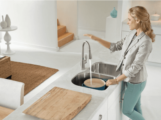 eco-friendly faucets, eco-friendly kitchen, faucets with sensors, green faucets, green kitchen, inhabitat competition, inhabitat contest, moen, Moen MotionSense faucet, MotionSense, MotionSense faucet, Project Kitchen Upgrade, touch-free faucet, Ways to Green Your Kitchen